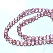 200pcs/bag 6mm DIY Handmade Beads Glass Faceted Loose Button Shape Spacer Beads Jewelry Making Bracelet Necklace
