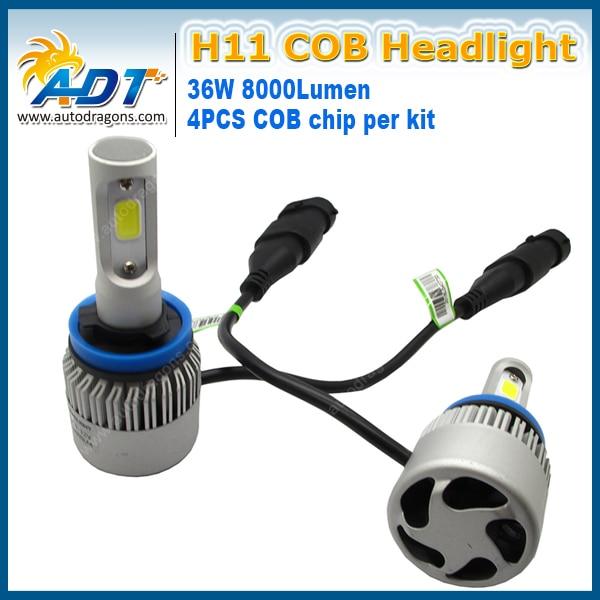 S2 <font><b>H11</b></font> светодиодные фары COB 12 В 72 Вт 8000LM 6500 К блеск хорошо супер яркий белый туман свет лампы водонепроницаемый все-в-одном дизайн