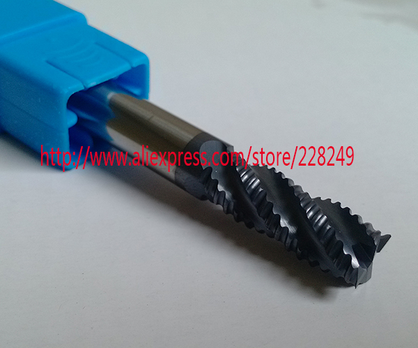 1pc D12*30*D12*75 HRC55 4 Flutes Tungsten Solide Carbide Roughing End Mills For CNC Milling Tools