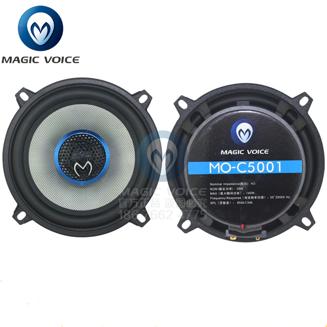5 Inch Auto Loudspeaker Paired Automobile Automotive Car HiFi Coaxial Speaker with Bass & Tweeter Audio Music Speakers for Car