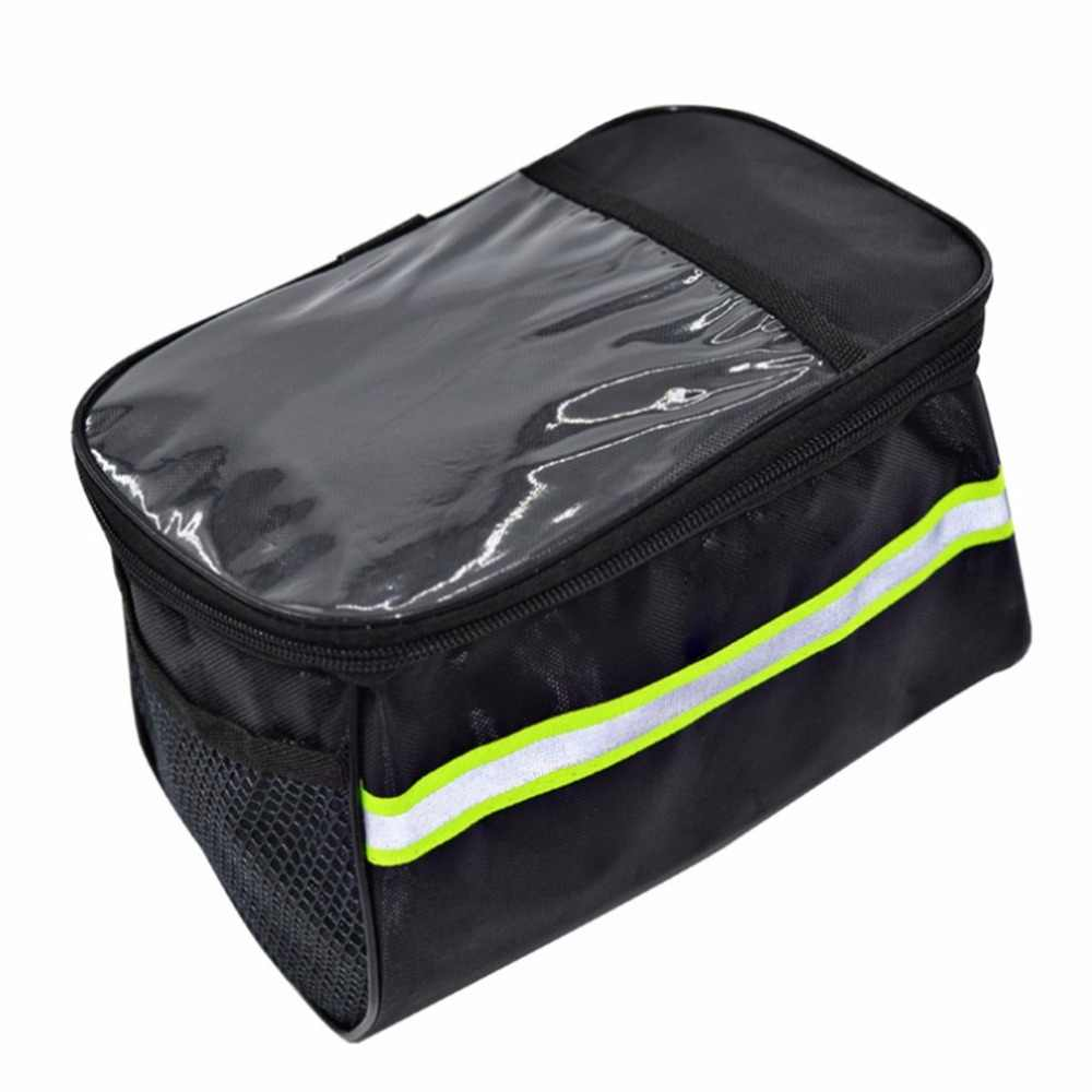 20 Inch Large Bicycle Bags Capacity Polyester Bike Bicycle Front Basket Durable Waterproof Tube Handlebar Bag Outdoor Sport