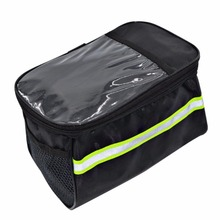 20 Inch Large Bicycle Bags Capacity Polyester Bike Front Basket Durable Waterproof Tube Handlebar Bag Outdoor Sport