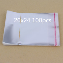 20x24cm /100pcs New Clear Resealable Cellophane/BOPP/Poly Bags Transparent Opp Bag Packing Plastic Self Adhesive Seal