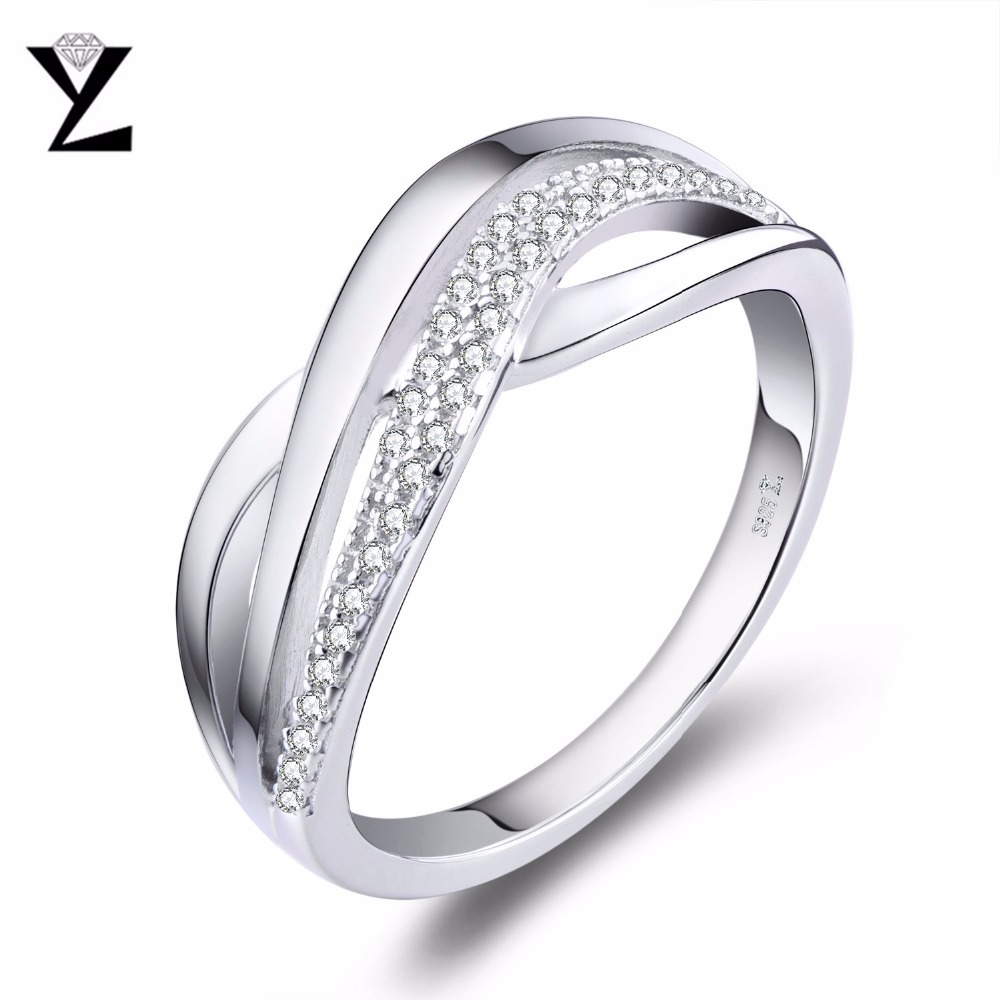 YL 925 Sterling Silver Engagement Rings