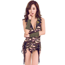 Striped female referee clothing sexy football stage costumes patent leather dress Halloween