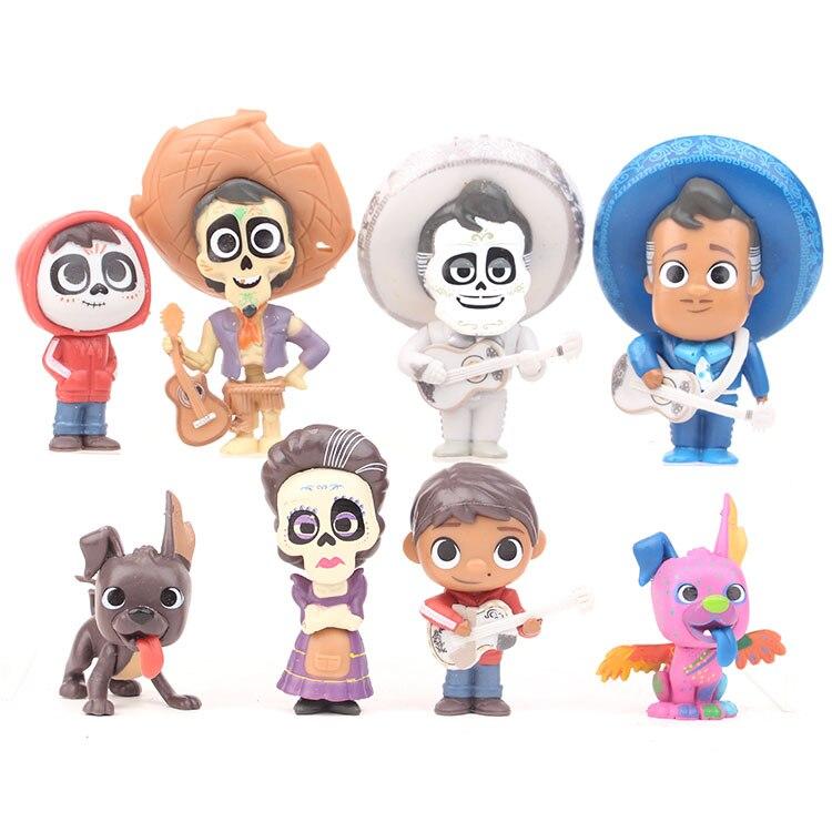 8pcs/set Coco Disney Figures Anime Figurine Toy Miguel PVC Action Figure Model Mini Decoration Collectibles Toys For Children