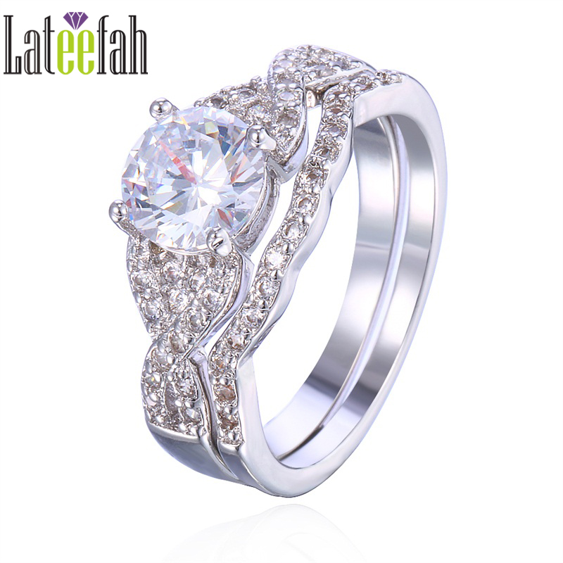 lateefah engagement wedding stacking rings for amazon round cubic zirconia infinity cross faux moissanite jewelry ring - Amazon Wedding Rings