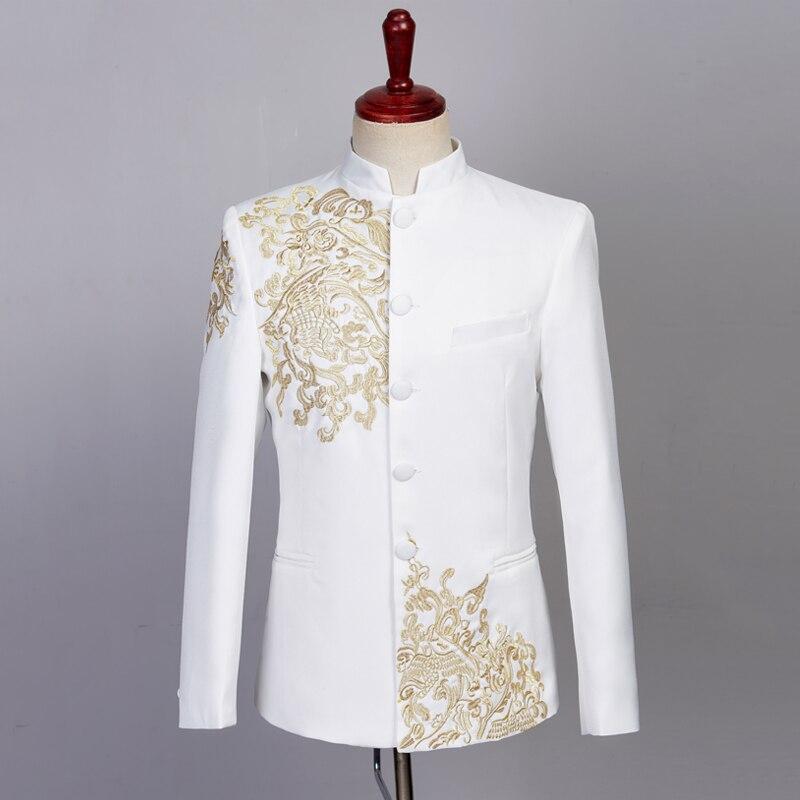 (Пиджак + жилет + брюки) свадебное платье жениха клетчатые официальные костюмы набор мужской модный бутик шерсть Повседневный деловой костю... - 5