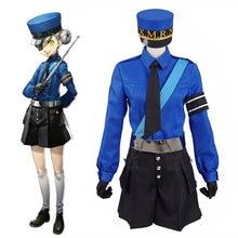 Persona 5 תאום כלא Wardens קרוליין חליפת מדים ג סטין Cosplay ליל כל הקדושים Custom Made