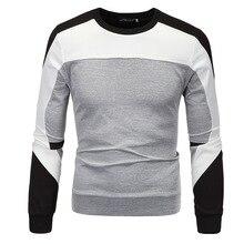 Winter Men's Fashion Sportswear Patchwork Casual Sweatshirt Men Slim Fit Brand Hoodies European Style Leisure Chandal Hombre