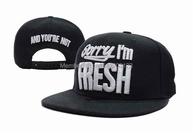 65ff99205cf Sorry I m Fresh Snapback hats black   grey   leopard   camo mens ...