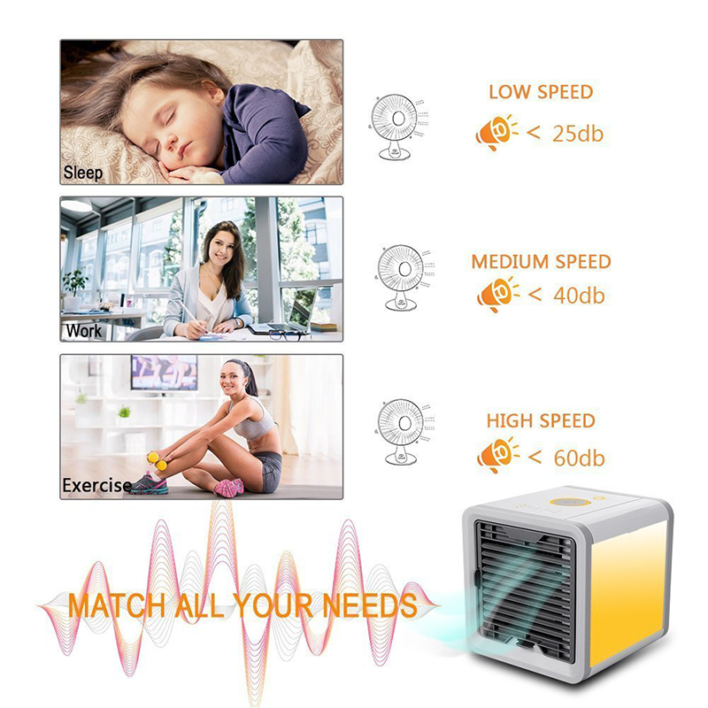 USB Artic Air Cooler Fan Personal Space Cooler Portable Desk Fan Mini Air Conditioner Device Cool Soothing Wind For Home Office (7)