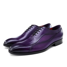 Fashion Luxury Italian Dress Shoes For Men Genuine Leather Shoe Oxford Mans