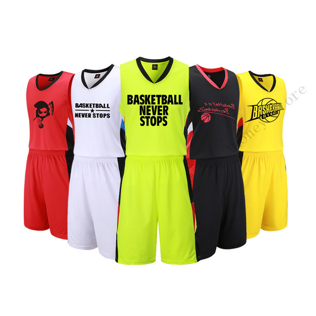 0c977927986 Adsmoney basketball jerseys adult blank basketball sets sports kits men  running Men suits sports vest and shorts sportswear DIY