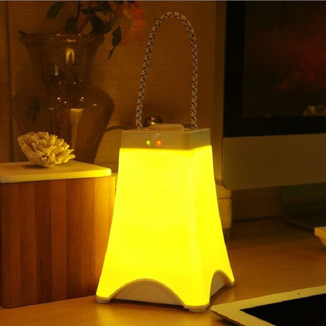 Newest Style Rechargeable Portable Night lamp Auto on off Bedroom Bookcase Night Light Home Decor Creative Gift