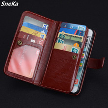 For Huawei P9 / p8 lite Case Luxury Wallet PU Leather Multi-card Cover Case For Huawei G7 Case Flip Phone Protective Bag Skin  fashion stripe style plastic protective back case for huawei b199 multi colored