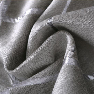 Image 5 - Blackout Jacquard Fabric for Curtains for the Living room Custom Size Ivory Grey Tan American Style the Curtains On the Window