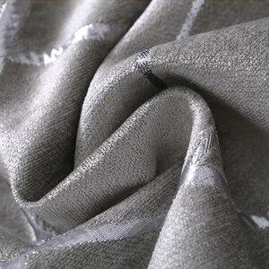 Image 5 - Mất Điện Vải Dệt Hoa Cho Chăn Màn Cho Phòng Khách Tùy Chỉnh Kích Thước Ngà Xám Tân Phong Cách Màn Cửa Trên cửa Sổ