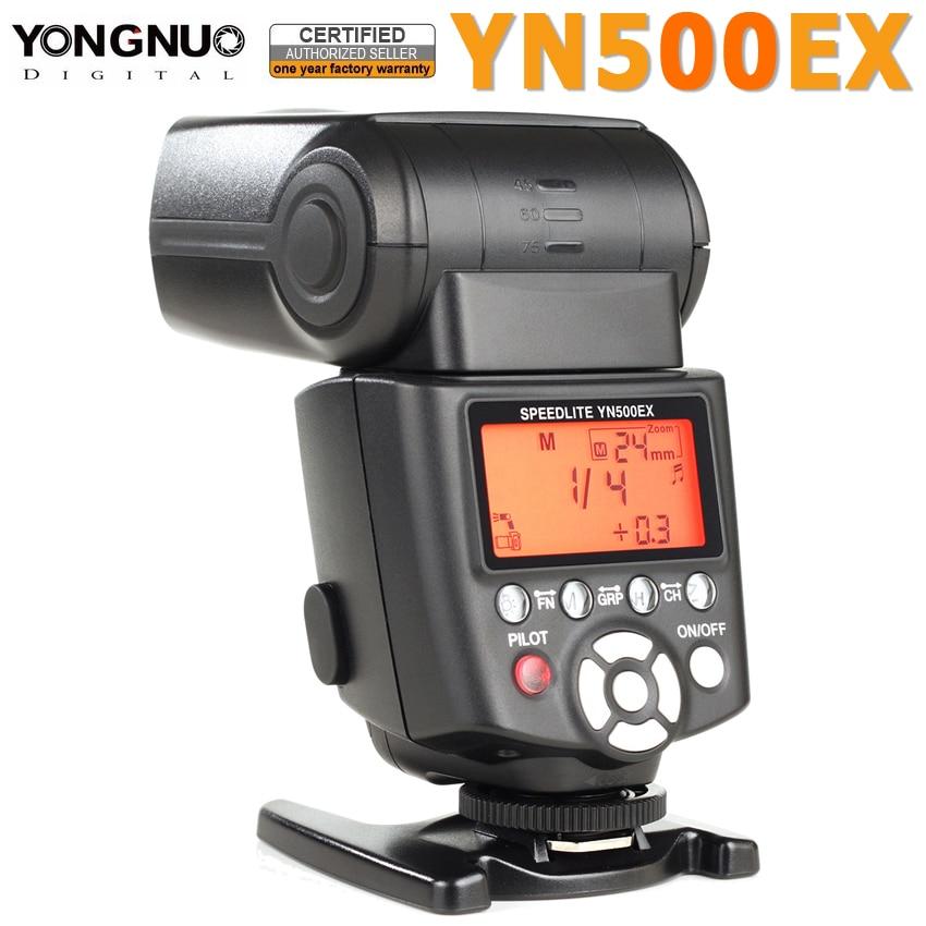 Yongnuo YN500EX YN 500EX YN500 EX Flash Light Speedlite Speedlight 1/8000s GN53 TTL for Canon 700D 650D 6D 7D 600D 400D 50D 5D yongnuo yn 560iv yn560 iv flash speedlite for canon eos 5d mark ii iii 7d 5d 50d 40d 500d 550d 600d 650d 1000d 1100d 450d 400d