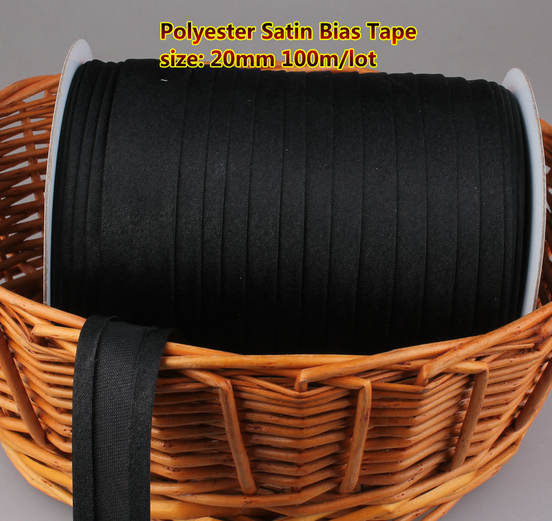 Free Shipment Polyester Satin Bias Binding Tape,size: 20mm