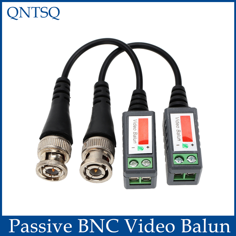 2pair/lot Camera CCTV Passive BNC Video Balun To UTP Transceiver Connector BNC Balun,Twisted Cable