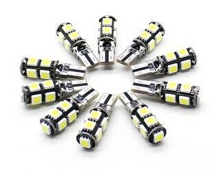 Бесплатная доставка Оптовая продажа 10 шт./лот Canbus T10 9smd 5050 свет автомобиля CANBUS W5W 194 5050 SMD Ошибок Белый Лампочки