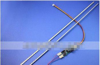 Universal LED Backlight actualizacion lamparas kit para Monitor LCD 2 llevo tiras ayuda a 24 '' 540 mm envio gratis 2 unids 420 mm brillo ajustable led tira kit actualizacion 19inch wide monitor de 19 w lcd panel ccfl led luz de fondo