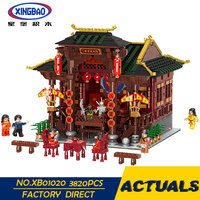XINGBAO 01020 3820Pcs Chinese Building Series The Chinese Theater Set Building Blocks Bricks Kids Toys Model Birthday Gift lepin