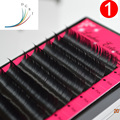 8 cajas set, de Alta calidad de visón extensión de pestañas, pestañas individuales, naturales, pestañas falsas pestañas falsas