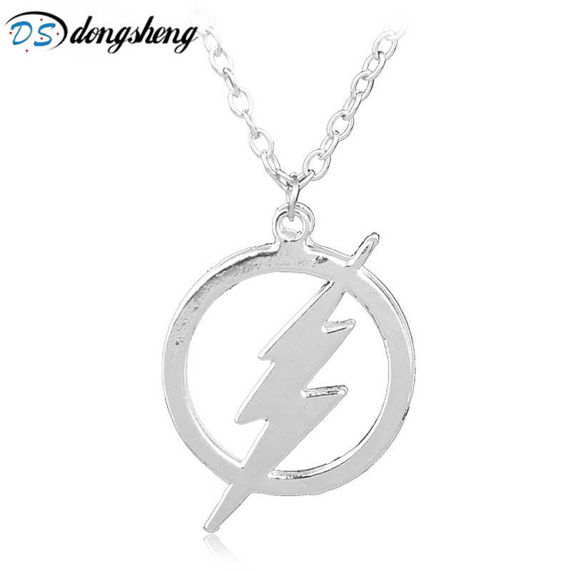 4acc2bcabf548 dongsheng Hot DC Comics The Flash And Arrow Pendant Necklaces Silver ...