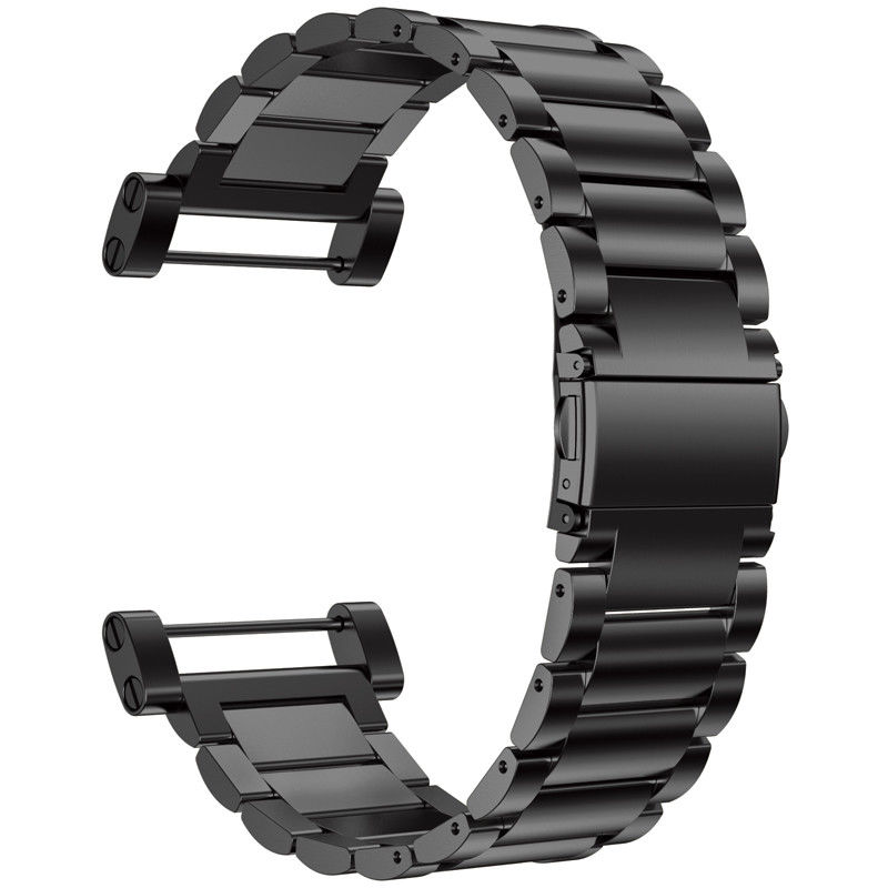 Replacemet Stainless Steel Classic Bracelet Watch Band Straps Tools for Suunto Core All Black Sport Watch in Watchbands from Watches