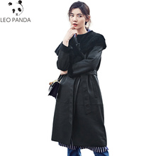 Abrigo de piel de oveja Real de invierno de calidad Superior ropa de mujer 2018 chaqueta de lana Vintage coreana Abrigo de piel de doble cara Abrigo