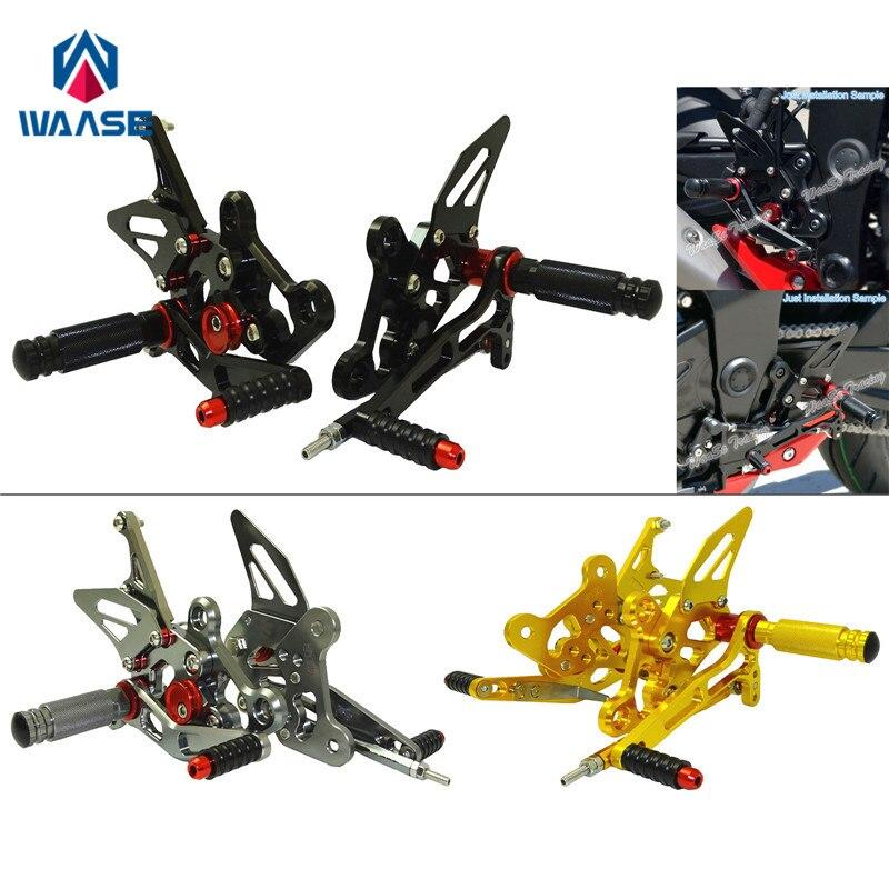 Waase GSR750 Réglable Rider montage pour siège arrière changement Montages pour siège arrière repose-pieds Pegs pour Suzuki GSR 750 2011 2012 2013 2014 2015 2016 2017