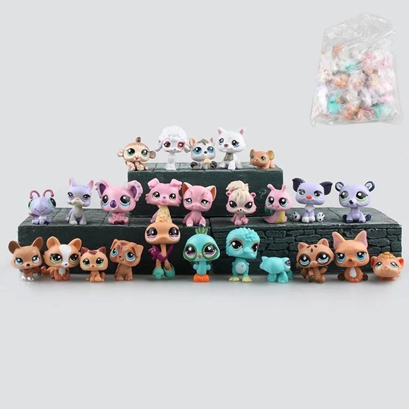 25Pcs LPS Toys Small Pet Mini Toys Figures Little Animal Cat Dog Patrol Patrulla Canina Action Figures Kids Toys Gift Brinquedos 20pcs bag little pet shop toys littlest cartoon animal cute cat dog loose action figures collection kids girl toys gift