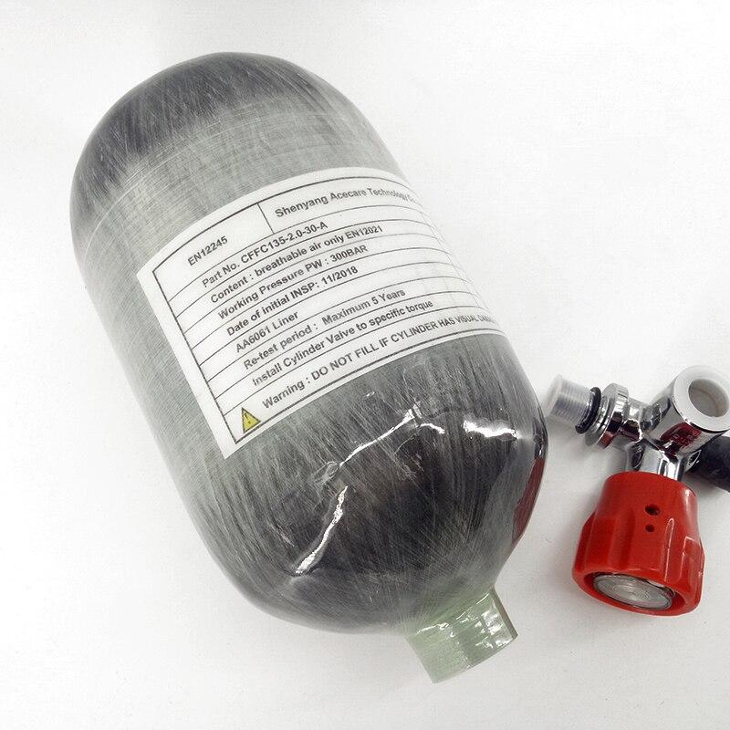 AC52011 Acecare Hp Airforce 4500Psi Mini Paintball Tank Carbon Scuba Pcp Carabina Compressed Air Gun Air Tank Breathing Apparatu