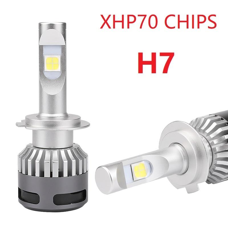 1Set Car mini led H7 13200lm Headlight 6000K Bulbs Kit HB3 9005 9006 HB4 H4 9012 H8 XHP70 H11 led 110W turbo headlamp car headlight h7 h4 led h1 h8 h11 hb3 9005 hb4 9006 h3 9012 hir2 55w 13200lm cree xhp70 chips 6000k light auto headlamp bulbs