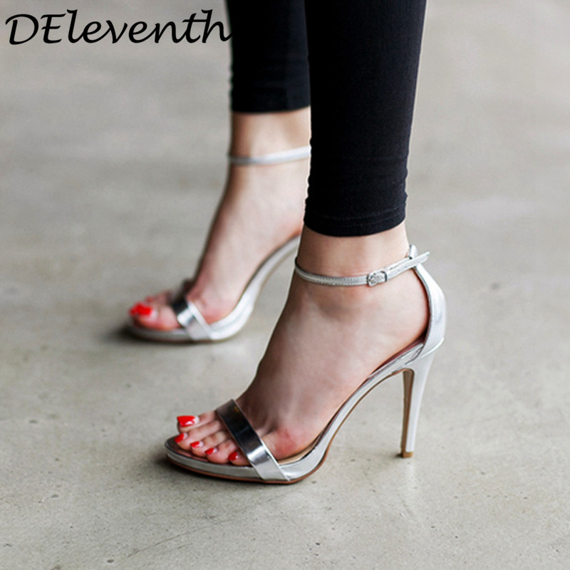2018 Women Pumps Summer Shoes T-stage Fashion Dancing High Heel Sandals Sexy Party Wedding Shoes Buckle Ladies Heels Size 36-41 Other