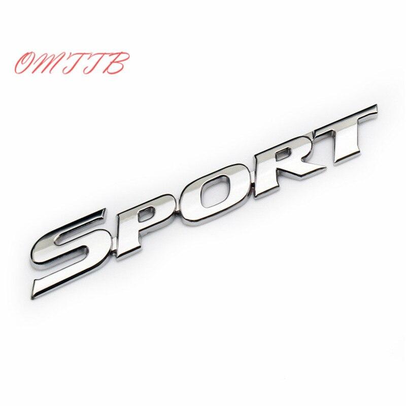 1 шт. 3D ABS Chrome СПОРТ герба Знак автомобилей Стикеры двери наклейка на авто Интимные аксессуары для TOYOTA BMW Honda VW Kia benz Audi автомобиль-Стайлинг