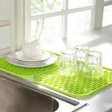 купить 22*16cm Silicone Pot Holder Heat Resistant Pot Mat Silicone Trivets Pat Coaster Placemat Kitchen Tools онлайн