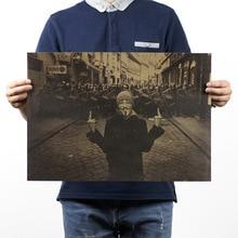 V для вендетты винтажная крафт-бумага киноплакат украшение дома художественные журналы классические ретро плакаты и принты