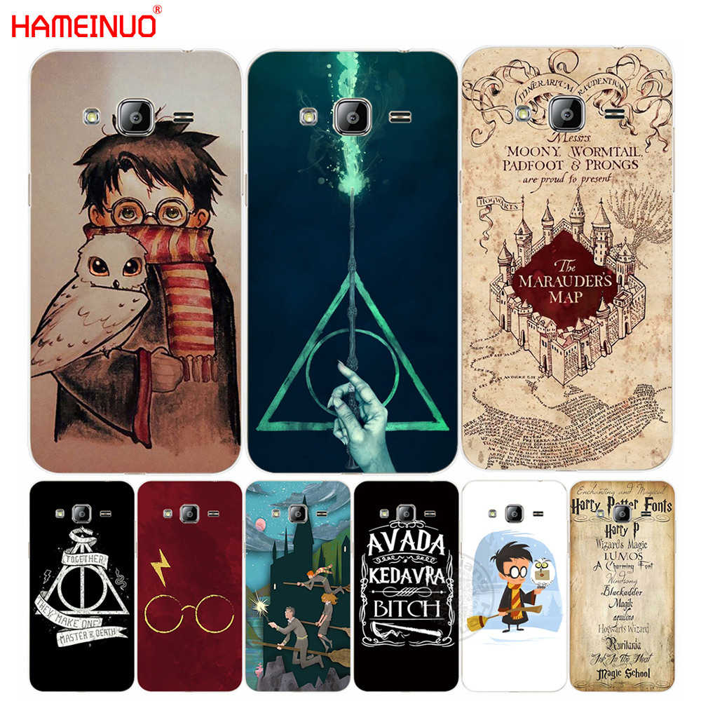 HAMEINUO Marauders Map Harry Potter DEATHLY HALLOW QOUTES cover phone case for Samsung Galaxy J1 J2 J3 J5 J7 MINI ACE 2016 2015