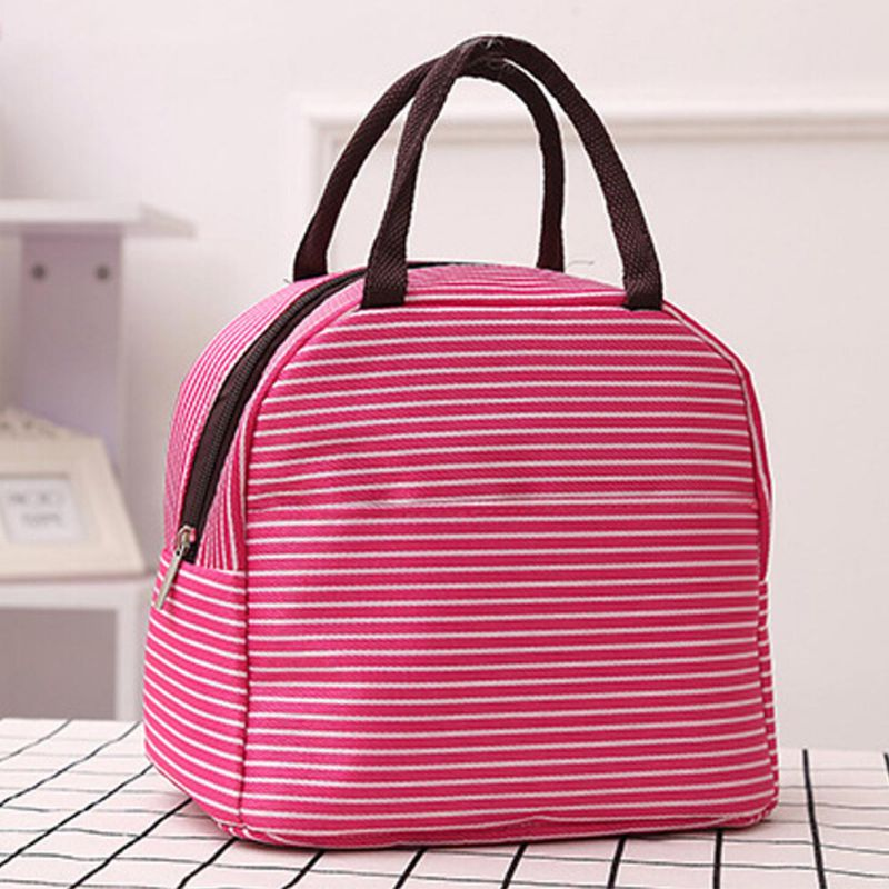 New Portable bag Cooler Insulated Canvas Lunch Bag Thermal Women Kids Men Cooler Storage Box Bag
