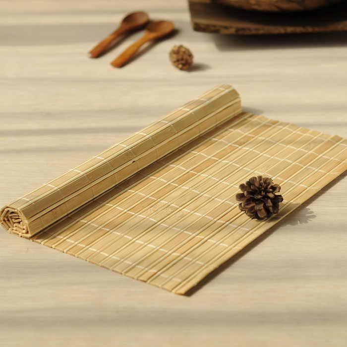 1 шт. бамбуковые подставки под столовые приборы, столовые приборы, кофейные чайные коврики, индивидуальные чашки, подставки под стаканчики
