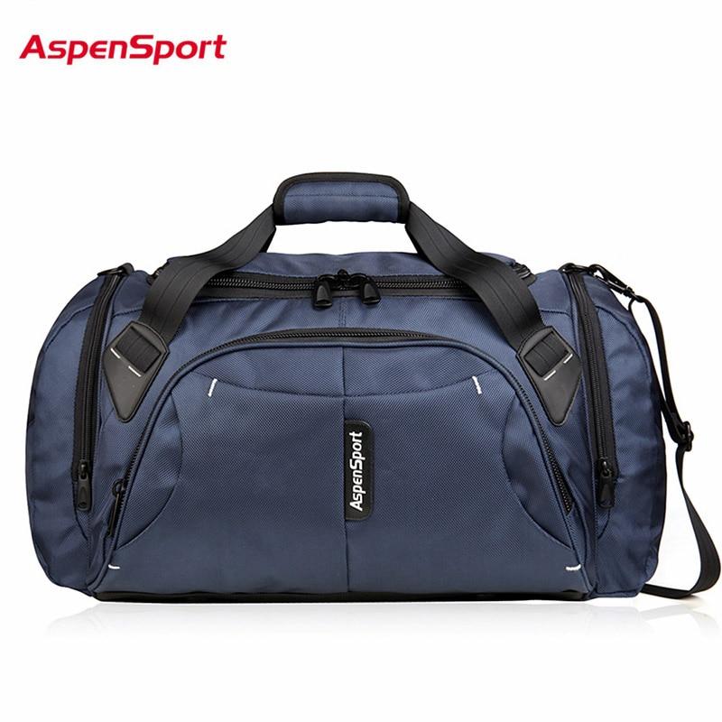 Sacs de voyage pour bagages AspenSport pour hommes sac à main Duffle en Nylon imperméable grande sangle organisateur sacs à dos pliants noir/rouge/bleu