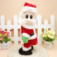 1 PC Christmas Santa Claus Electric Twisted Hip Singing Toys Party Favors For Guests