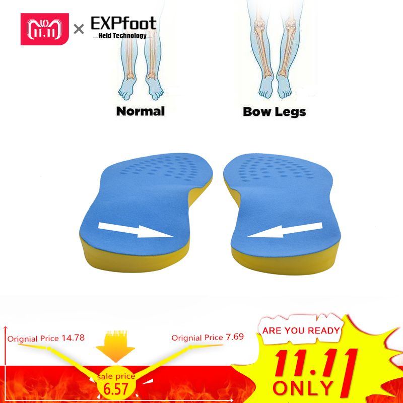 EXPfoot PU Cotton Unisex Bow Leg Valgus Varus Corrector Orthotic Insoles Comfortable Breathable Massaging Foot Pads Inserts батарейка cr123a kodak ultra cr123a 3v bl1 1 штука