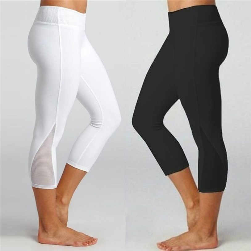 03419240081da0 Calf-length Pants Capri Pant Sport leggings Women Fitness Yoga Gym High  Waist Legging Girl