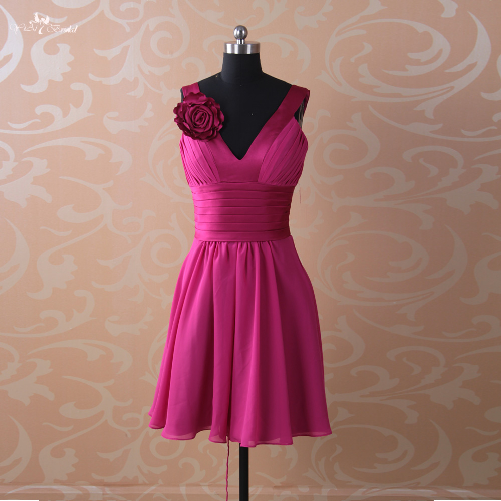 Online buy wholesale junior bridesmaid dress patterns from china rse64 girls knee length patterns fushcia junior short bridesmaid dress china ombrellifo Choice Image