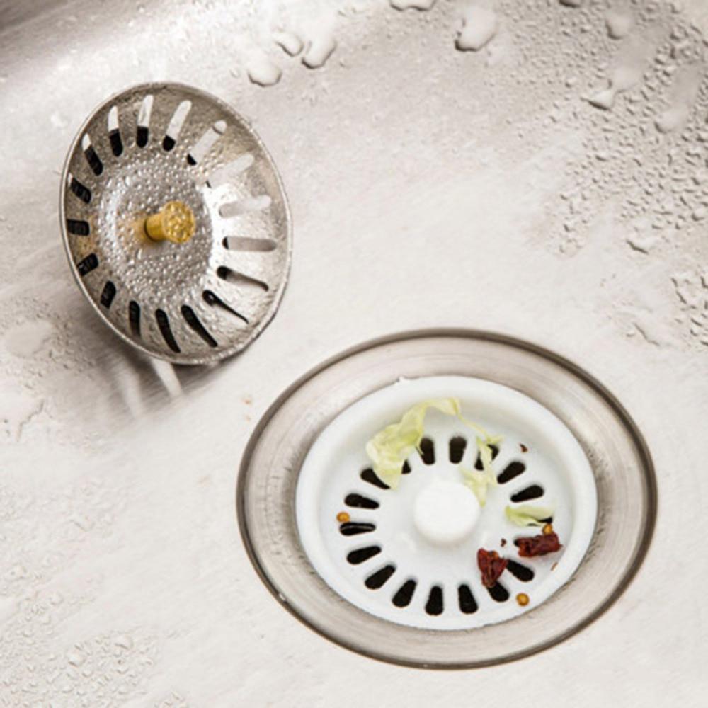 1pcs stainless steel home kitchen sink drain mesh stopper basket strainer waste plug bathroom basin sink. beautiful ideas. Home Design Ideas