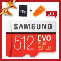 Оригинальные Карты памяти SAMSUNG 100% U3 SDXC 512 GB 256G 128 GB EVO Plus Microsd карты памяти класс 10 Micro SD TF